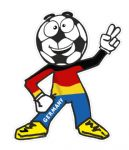 Novelty FOOTBALL HEAD MAN With Germany German Flag Motif For Football Soccer Team Supporter Vinyl Car Sticker 100x85mm
